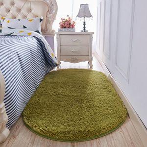 FBC19011001 Plush bedside carpet oval modern simple bedroom mat living room bedroom lovely princess pink carpet