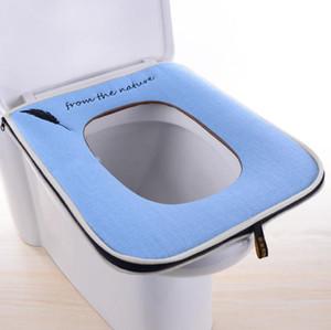 WC Sitzkissen Haushalt Vier Jahreszeiten Universal Leinen Platz WC Set Reißverschluss Universal Europäischen Stil WC Griff Abdeckung