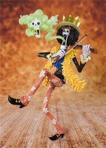 NEW 뜨거운 23cm 일본 애니메이션 ONE PIECE 20 주년 밀짚 모자 해적단 브룩 Burukku PVC 액션 피규어 모델 Brinquedos 장난감 T200118