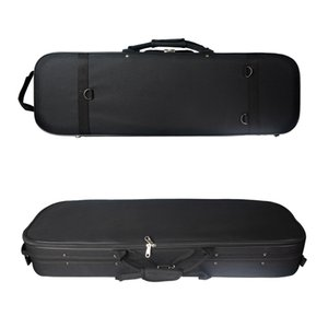 1 4 Size Violin Case Box Hard Shell Protect Storage Carry Violin Cases with Hygrometer Black