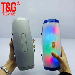 Flash Light TG165 della lampada LED di TF altoparlanti stereo Bluetooth 5.0 Portable Colonna Subwoofer mini altoparlante del computer