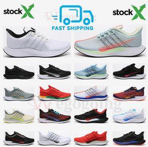 Fast Shipping Zoom Pegasus 35 turbo fly running shoes triple black vast grey gold dart Fir knit geode teal men women designer sneakers