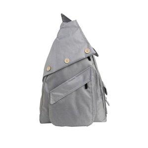 """14.56 """"* 21.25"""" Moda Yong Hombres Mujeres Unisex Sólido Botón Decorativo Gran Capacidad Bolsa de viaje cruzada 3Colors S L Student Compute Bag"""
