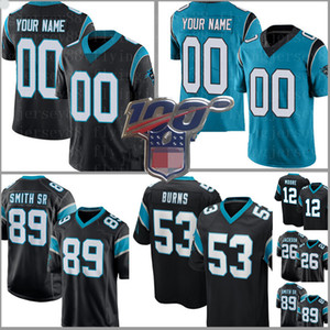 Personalizados Jersey 89 Steve Smith Sr 51 Sam Mills 53 Brian Burns 26 Donte Jackson 12 DJ Moore Devin Funchess Jerseys