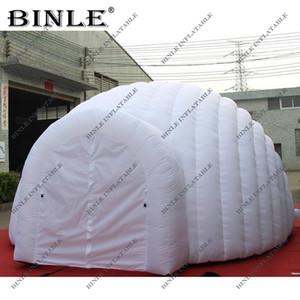 Profesyonel tasarlanmış salyangoz şekilli beyaz şişme kubbe çadır 2 tünel girişleri ile olay parti için Marquee kubbe ve olay