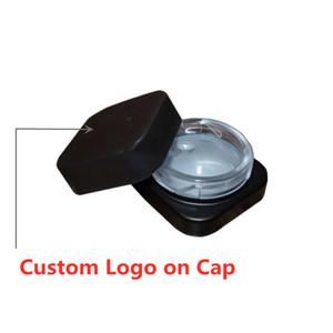 Hot Cube Container 5ml Dab Jar Jar quadrati del cubo di vetro Food Grade Per Estratto Concentrato di cera Childproof ermetico coperchio della scatola vaporizzatore Popolare