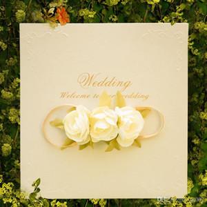 Casar com o Convite Do Cartão de Simulação Subiu Cartões Personalidade Criativa Decoração de Casamento Suprimentos Red Hot Sales Pérola Papel 3 08xdC1