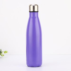 J Thermos-Isolierkühlbecher Cola-Wasserflaschen aus rostfreiem Stahl (17 Unzen) Vakuumisolierte Cola-Wasserflaschen mit großer Kapazität