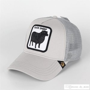 Мода Козырек Женщина Sheep Summer Mesh Caps Вышивка Butch Собака Животные бейсболки Мужчина Регулируемых ВС Hat бейсболки подарок любовника