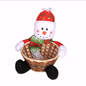 Christmas Candy Storage Basket Decoration Santa Claus Storage Basket Gift Christmas Decoration Christmas Candy Storage Basket