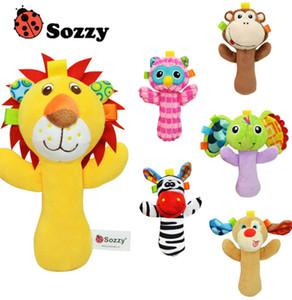 Sozzy müzikal sallandı bebek bebek oyuncakları hayvan peluş oyuncaklar peluş