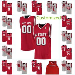 Encargo para hombre de la NCAA North Carolina State Wolfpack Jersey de la universidad de baloncesto Omer Yurtseven Abu Markell Johnson Torin Dorn Jersey NC State