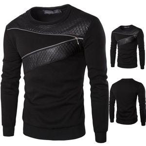 الهيب الموضة الجديدة زيبر نمط T قميص رجال جلدية الترقيع الرجال 'S T شيرت زائد الحجم M-5XL الأعلى تيز رجل هوب الملابس تريند