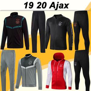 19 20 Ajax ZIYECH TADIC Şapka Ceket Set Futbol Formalar Dolberg NERES DE ligt Erkek Ceket Takımı Dolberg DE JONG Futbol Gömlek Pantolon