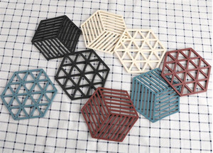 Hexagon Silicone Louça Isolamento Mat Coaster Cup Hexagon Mats Pad termo-isolante bacia Placemat Home Decor desktop