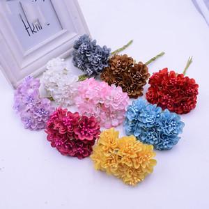 DIY Scrapbooking Çiçek Topu Ucuz Flores İçin Yeni Tasarım 120pcs / lot Mini İpek Yapay Gül Buket Düğün Dekorasyon Kağıt Çiçek