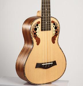 O envio gratuito de alta qualidade de 23 polegadas Ukulele concerto de guitarra havaiana Ingman Spruce Painel Quatro corda pequena Ukulele para Musical Instruments