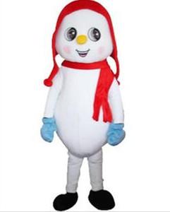 2019 Yüksek kaliteli Çocuklar Kardan Adam Maskot Kostüm Kıyafet Fantezi Elbise Kostüm Noel Snowman Karikatür Kostüm boyutu