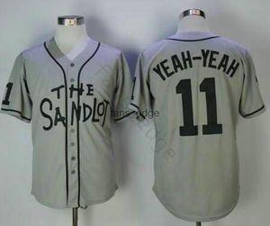 Free Fast Shipping The Sandlot Benny 30 Rodriguez 5 Michael 'Squints' Palledorous 11 Alan Yeah-Yeah McClennan Movie Baseball Jerseys