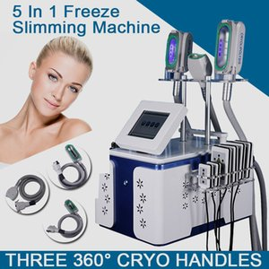Unique Design 360° Cryolipolysis Machine 3 Cryo Handles Fat Freezing Laser Liposuction Body Slimming 40K Ultrasound Cavitation Fat Blasting