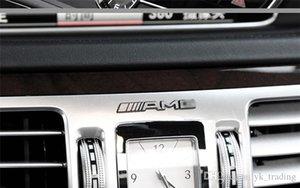 Mercedes Benz AMG logo marka amblemi sticker çıkartma Direksiyon rulman daire Merkez kontrol düğmesi Araç içi Ücretsiz Yenileme Tarihi çıkartması AMG