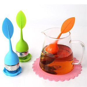 Silicone Tea Infuser Reusable Stainless Steel Strainer Loose Tea Steeper Tea Ball Herbal Spice Filter Kitchen Tools YD0633