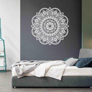 Decorar el hogar India budismo mandala flor arte etiqueta de la pared decoración calcomanías pintura mural extraíble decoración papel tapiz G-1075