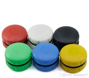 New Desgin Hamburger Herb Grinder with 2layer 60mm Plastic Herb Grinders for Smoking Pipes Acrylic Cut Tooth Smoke Grinder