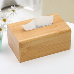 Tissue WHISM Papel caso Kleenex WC caixas de papel Banho Car Quarto Baby Wipes guardanapo Titular Natural Wood Toalha Box Dispenser Y200328