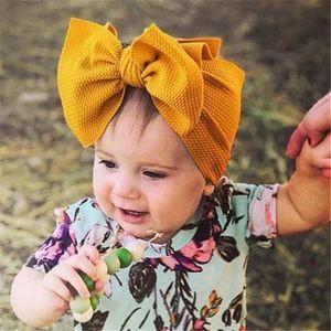 The new 34-color girl wide bowknot children's soft elastic bowknot headband children's hair accessories headband princess headdress