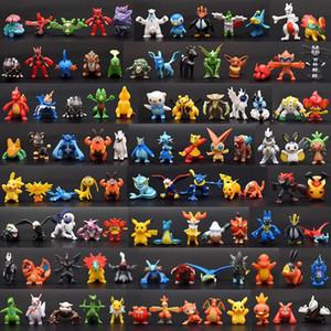 144 PCS Monstro Pika Brinquedos PVC dos desenhos animados Cosplay Filmes Action Figure Decoração Boneca Brinquedos das crianças das crianças presentes 3CM