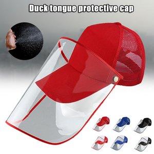 A prueba de polvo anti-salpicaduras Con la gorra de béisbol a prueba de polvo cubierta transparente de cara al aire libre Máscara de alta calidad de material de algodón FP8