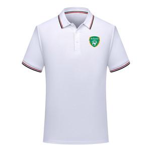 мужчины Ирландии сборная Футбол поло Футбол с коротким рукавом рубашки поло летом обучение моды Джерси Поло Рубашки футбол Мужская Polos