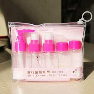 Factory Dropshipping Cosmetic bottle 7pcs spray bottle set empty Cosmetics portable sample travel bottling Alcohol spray bottle B2501
