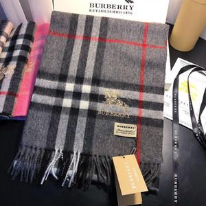 100% Cashmere luxurys Mens Lenços quentes manta Cachecóis macio Vintage real do lenço da forma do inverno Mulheres Homem Designers macias frete grátis # 04