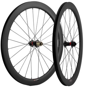 700c Carbon Wheels 50mmm Depth 25mmm Wid UD Matte Clincher Disapple Road Cycling دراجة عجلات Axle Thru / QR Skewers