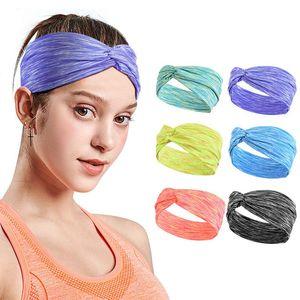 Femmes Bandeau Criss Cross Head Wrap Hair Band Yoga Stretchy headwraps Courir Sport Serre-tête pour les femmes