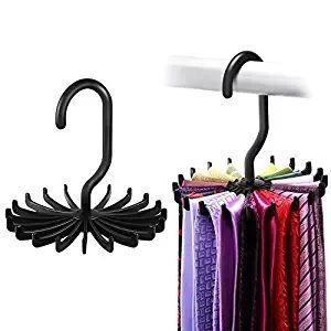 Twirl Tie Rack Belt Hanger Holder Holder para almacenamiento de organizador de clóset