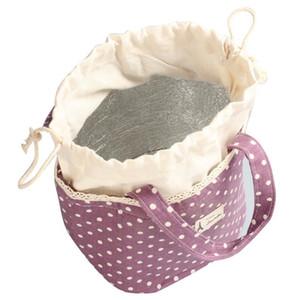 Ishowtienda Lunch Bag Para As Mulheres Senhoras Térmica Isolada Lunch Box Tote Cooler Bag Bento Bolsa de Almoço Container Bolsa Feminina C19030201
