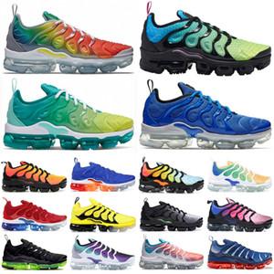 Yeni Geliş Renk Spor Koşu Koşu Ayakkabıları Yeni 2020 Erkek Ayakkabı ağartılmış Aqua Üzüm Sneakers TN Artı Be Gerçek Geometrik Aktif desingers