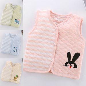 Infantil para niños bebés de los muchachos del chaleco del algodón suave cálido invierno Chaleco Chaleco Escudo unisex Sleevelesss chalecos Abrigos Ropa
