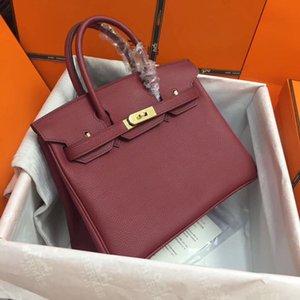 kutu h berkin birking çantası altın kilitleri deri 25,30,35, alışveriş çantaları yeni 3IQl # Birkin kitap çanta çanta ile