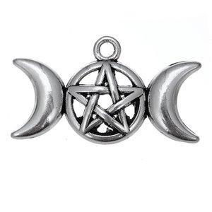 50 PCS Prata Estrela Viking Six-pointed Símbolo Da Estrela Pingente de Jóias Acessórios Para PulseiraColares de Jóias DIY Handmade