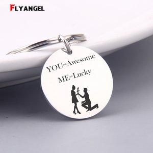 Il regalo più romantico Portachiavi incisi che ti segnano = Awesome Me = Lucky proponi portachiavi Regali per San Valentino Matrimonio Souvenir