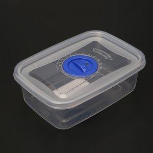 350мл Plastic Clear Многоразовые хранения продуктов Контейнер Lunch Box герметичное уплотнение с крышкой для хранения пищевых продуктов Microwave Box