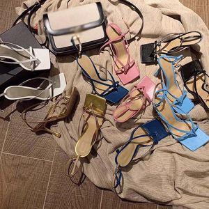 mulheres Designer sapatos saltos de moda de luxo designer sapatos de saltos designer de sandálias ESTIRAMENTO SANDÁLIAS mulheres chinelos tornozelo-correias das sandálias