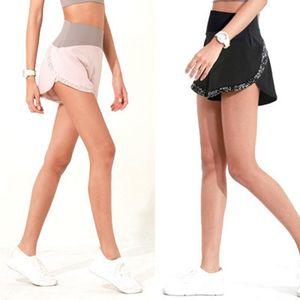 L-08 Şort Lady Casual Yoga Kıyafetler Yetişkin Spor Kız Egzersiz Fitnes salonu giysi Koşu Tasarımcı Womens dikiş Yoga Kısa Pantolon
