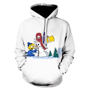 Homens Moda de Nova Hoodie Impressão 3D Hoodie Simpson Série Variety de e outono Mulher e Desporto inverno camiseta Hoodie