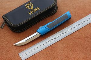 Haute qualité VESPA Ripper Couteau M390 Satin Lame Poignée: 7075Aluminum + CF, la survie de camping de plein air Couteaux outils EDC