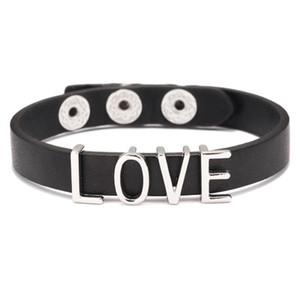 Любовное письмо Кожаный браслет Пара Панк PU кожаный браслет для женщин мужчин Мода регулируемый Wrap браслеты браслеты подарка ювелирных изделий